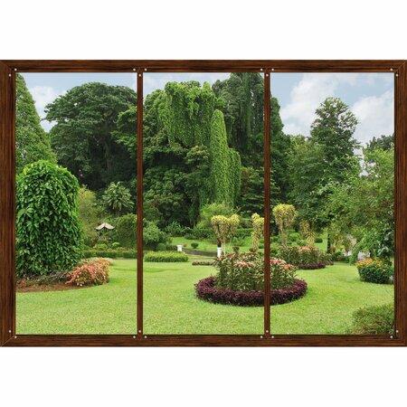 Fototapeta XXL Okno do záhrady 360 x 270 cm, 4 diely