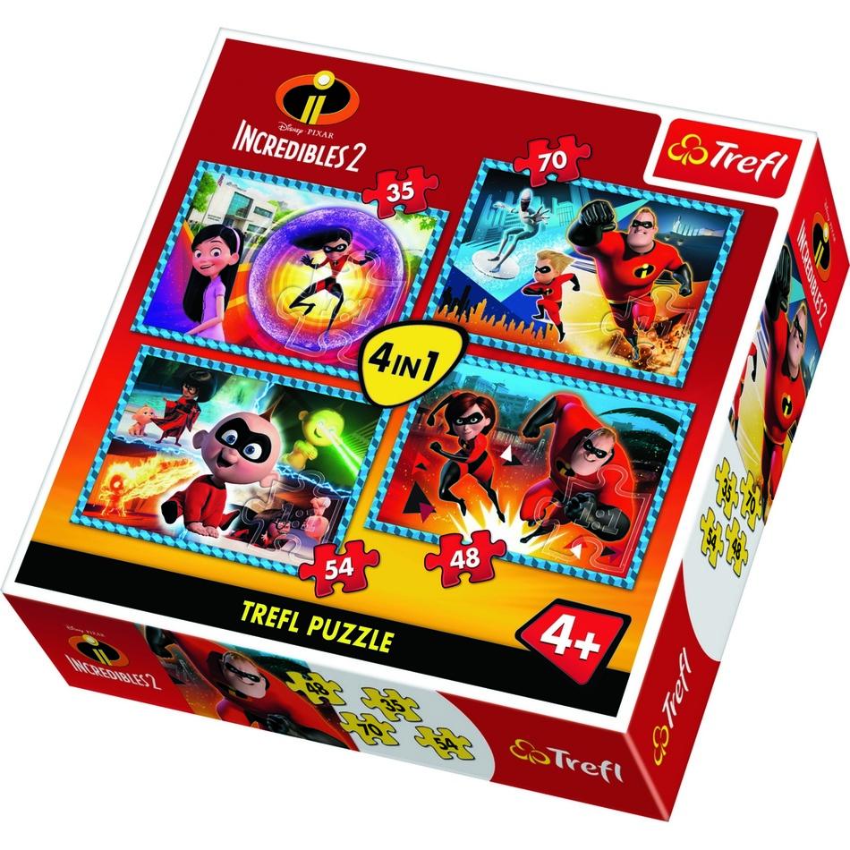 Puzzle TREFL Úžasňákovi 2 4v1 35,48,54,70 dílků