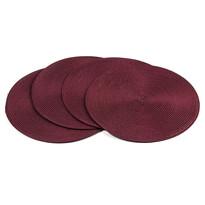 Suport farfurie Deco, rotund, burgund, diam. 35 cm, set 4 buc.