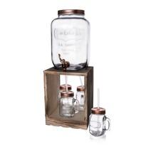 Orion készlet: 8,8 l palack csappal, állvánnyal és 4 Straw üvegpohárral
