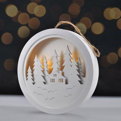 Solight Dekorativní LED obrázek Winter dream