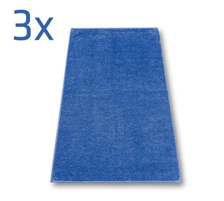 Ručník s.Oliver tmavě modrý, 50 x 100 cm, sada 3 k, modrá, 50 x 100 cm