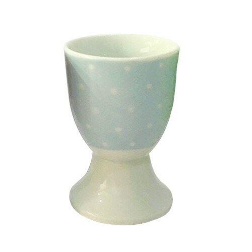 Altom Porcelánový stojanček na vajíčko Bodka, modrá