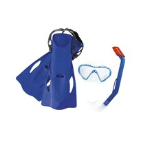 Bestway Šnorchlovací set Firefish modrá – ploutve, brýle, šnorchl