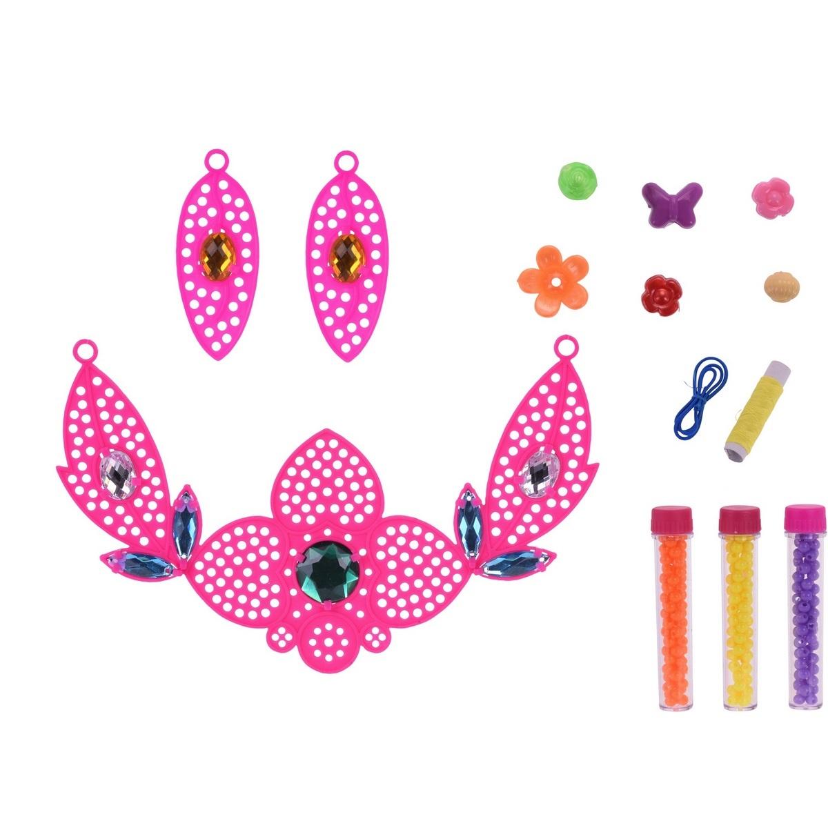 Koopman Detská sada na výrobu šperkov Náhrdelník, ružová