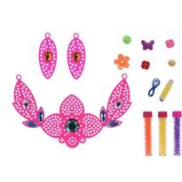 Nyaklánc gyermek ékszerkészítő készlet, rózsaszín