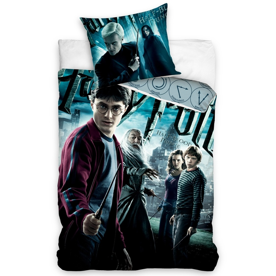 Carbotex Dětské bavlněné povlečení Harry Potter a Princ dvojí krve, 140 x 200 cm, 70 x 90 cm