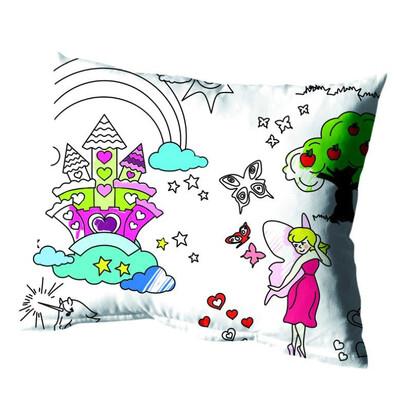 Dětský povlak na polštářek omalovánka Děvčata, 40 x 40 cm