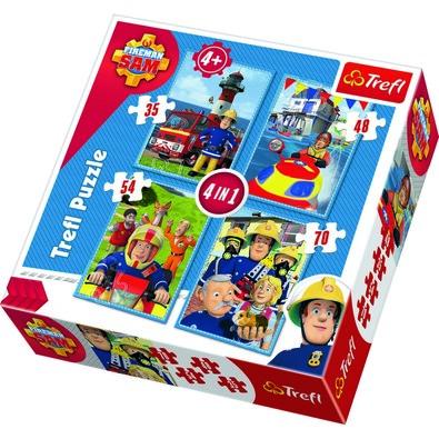 Trefl Puzzle Sam, a tűzoltó 4 db