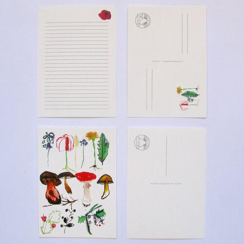 Listový set S hubami