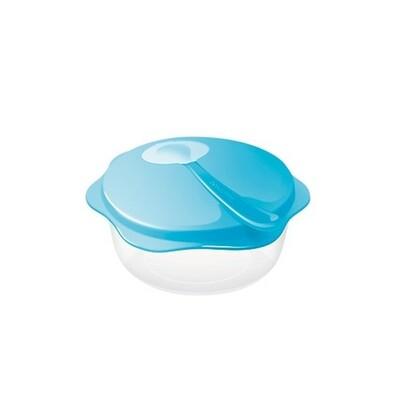 Tescoma Cestovní miska se lžičkou BAMBINI, modrá