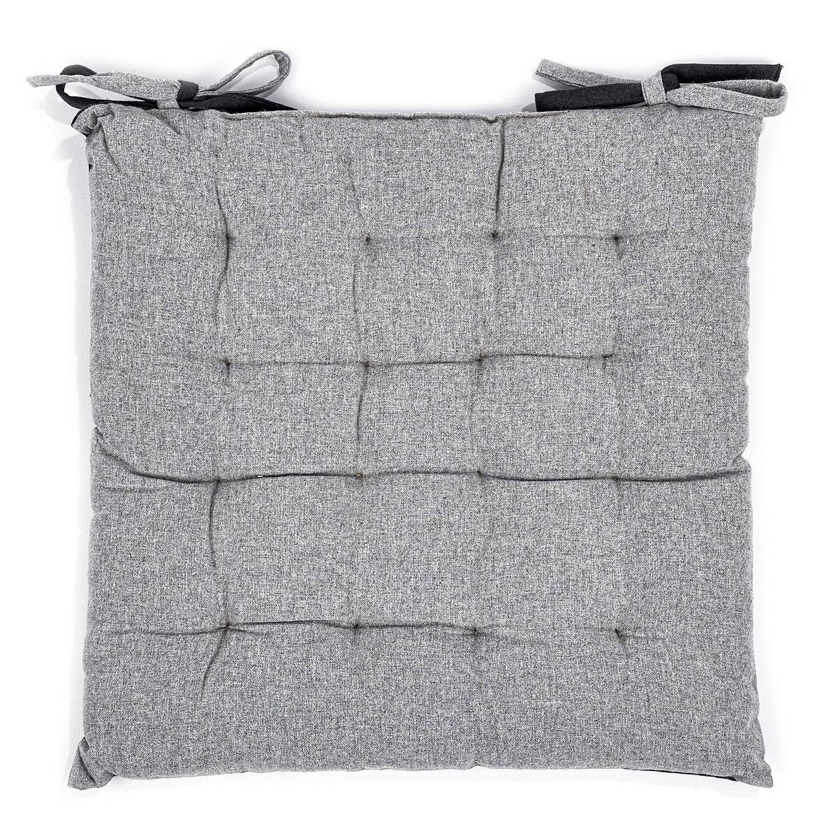 Trade Concept Prošívaný sedák Heda šedá, 40 x 40 cm
