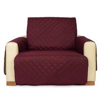 4Home Narzuta na fotel Doubleface bordo/beżowa