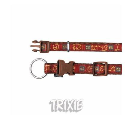 Nylonový obojek Trixie Impression, hnědý, M / L
