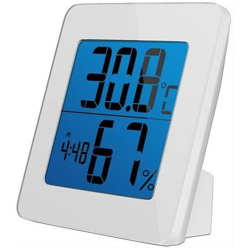 Solight teplomer, Teplota, vlhkosť, budík, LCD displej, biely rámček