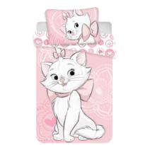 Dětské bavlněné povlečení Marie Cat pink heart , 140 x 200 cm, 70 x 90 cm