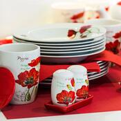 BANQUET Red Poppy servírovacie misky v košíku 4 diely