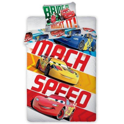 TipTrade Dětské bavlněné povlečení Cars Speed, 140 x 200 cm, 70 x 90 cm