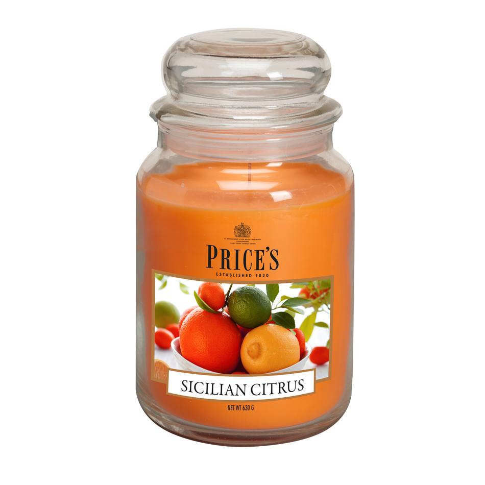 Price's Vonná svíčka ve skle Large Jar Sicilian Citrus