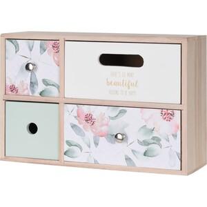 Dřevěná skříňka se 4 šuplíky Santini