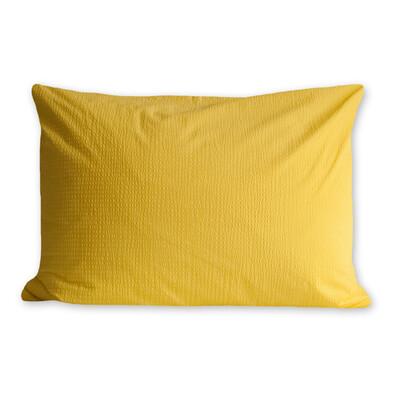 Povlak na polštářek krep žlutá, 50 x 70 cm