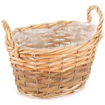 Wiklinowy koszyk, osłonka na doniczkę z folią Gala, 20 x 12 x 14 cm