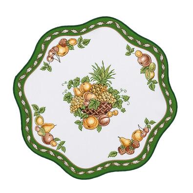 Ubrus ovoce zelená, 35 cm