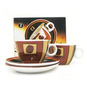2dílná sada šálků s podšálkem Cappuccino