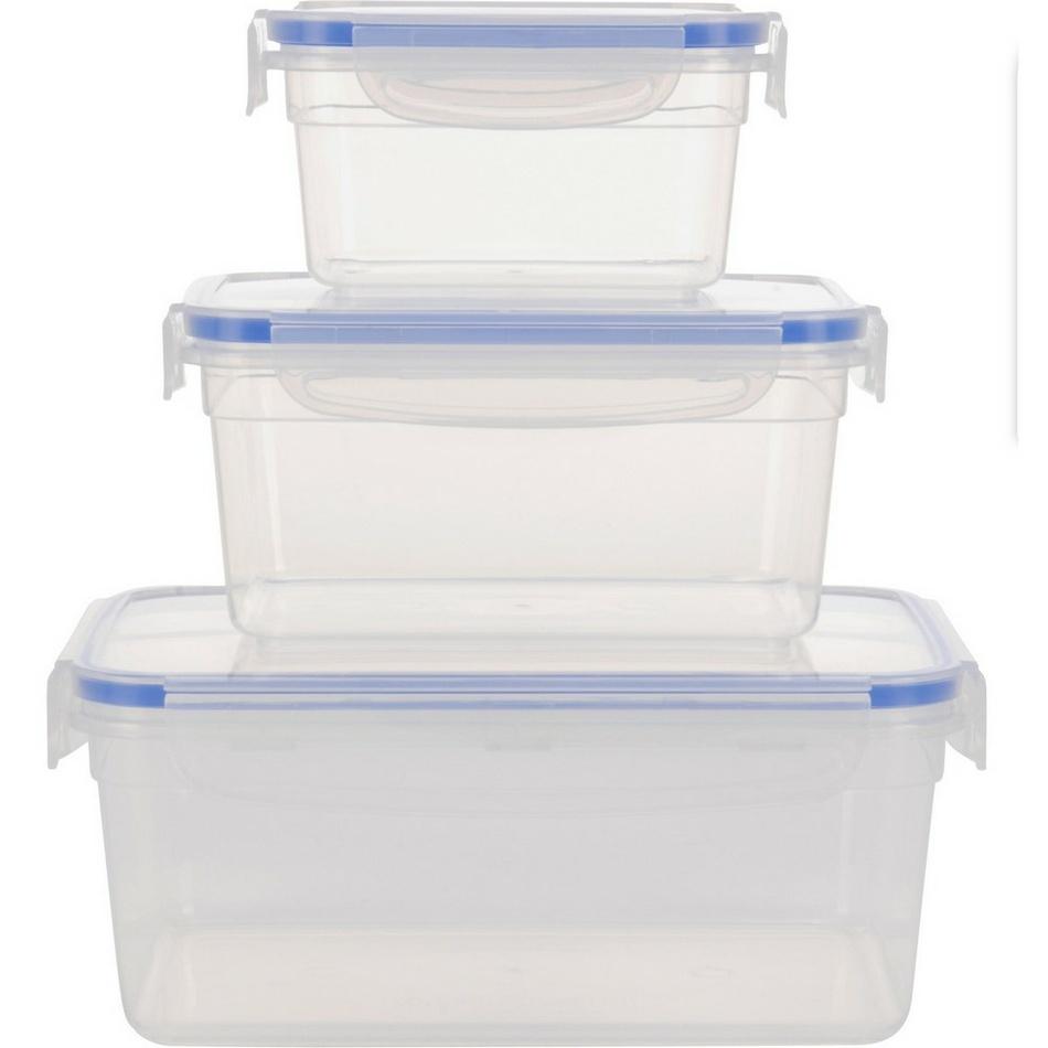Koopman Sada plastových dóz na potraviny Debie, 3 ks