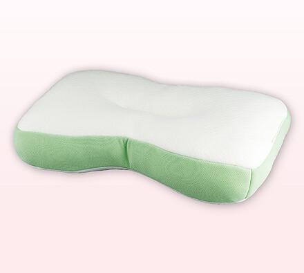 Pěnový polštář, bílá + zelená, 40 x 60 x 13 cm
