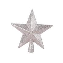 Glitter star karácsonyfa csúcsdísz, arany