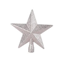 Vârf pom de Crăciun Glitter star, auriu