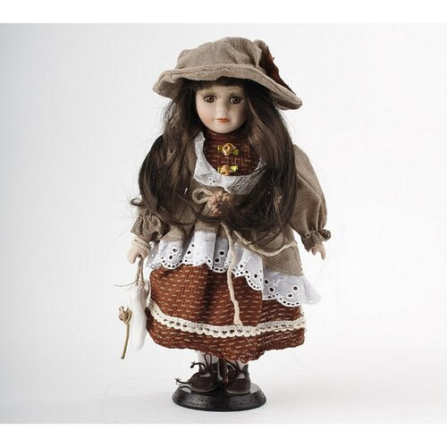 Bábika Terezka s porcelánovou hlavičkou, 32 cm