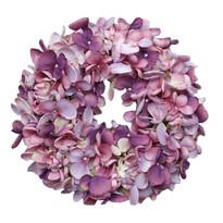 Coroniță artificială Hortensie violet, diam. 24 cm