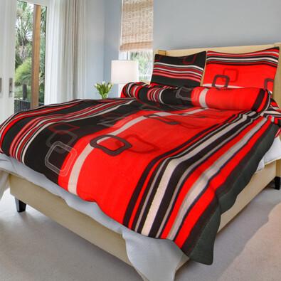 Bavlněné povlečení Tonda červený, 140 x 200 cm, 70 x 90 cm
