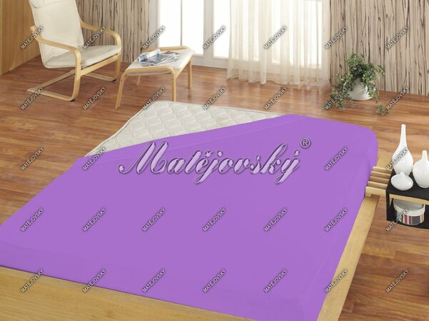 Matějovský froté prostěradlo světle fialová, 180 x 200 cm