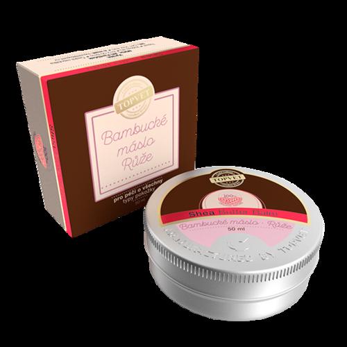 Topvet Bambucké máslo - Růže 50 ml