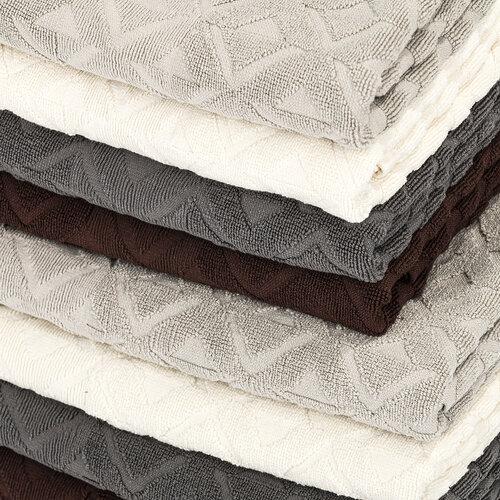 Sada Rio ručník a osuška tmavě šedá, 50 x 100 cm, 70 x 140 cm