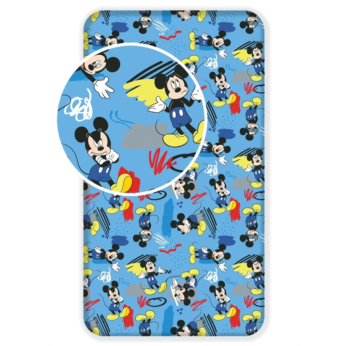 Jerry Fabrics Dětské bavlněné prostěradlo Mickey 043, 90 x 200 cm
