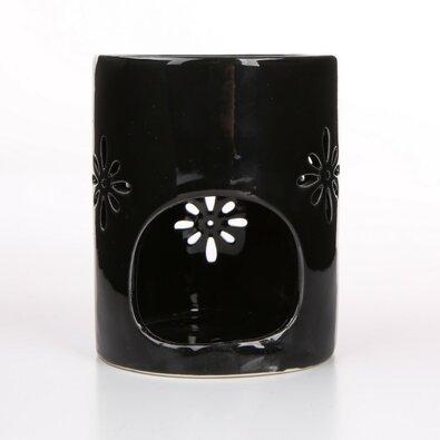 Altom Porcelánová aromalampa Abi 8 x 10 cm, černá
