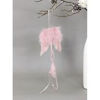 Aripi de înger din pene 12 x 35 cm, roz