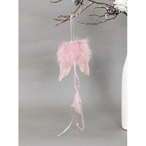 Anjelské krídla z peria 12 x 35 cm, ružová