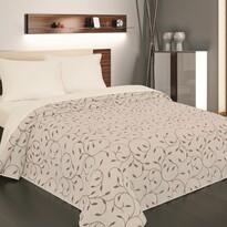 Narzuta na łóżko Indiana brązowa, 240 x 260 cm