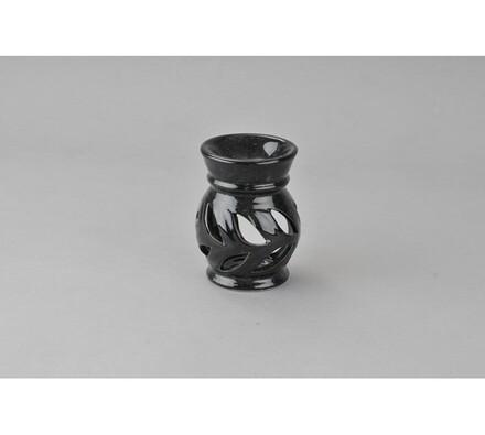 Keramická aromalampa, černá, černá
