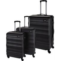 Sada skořepinových kufrů na kolečkách  3 ks, tmavě šedá