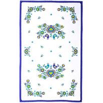 Folklór törlőruha, kék, 45 x 70 cm