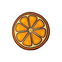 Plážová osuška kulatá Pomeranč, 150 cm