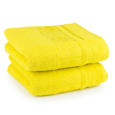 4Home ručník Bamboo žlutá, 50 x 100 cm, 2 ks