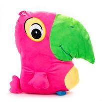 Polštářek Papoušek růžový, 38 x 36 cm