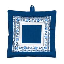 Podkładka ze wzorem cebulowym, biało-niebieska, 20 x 20 cm